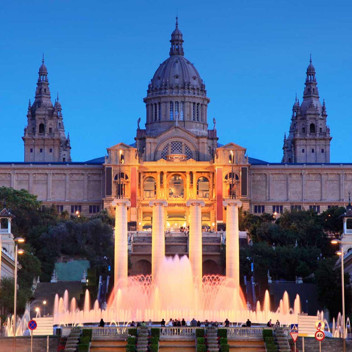 La fuente magica 2h barcelona sidecar for Espectaculo fuentes de montjuic